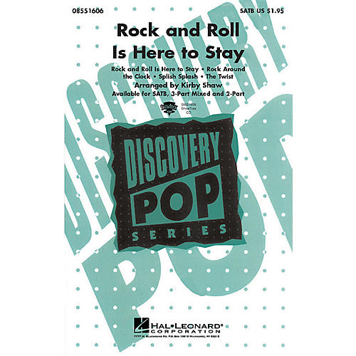 Hal Leonard Rock and Roll Is Here to Stay (Medley) ShowTrax CD Arranged by Kirby Shaw thumbnail