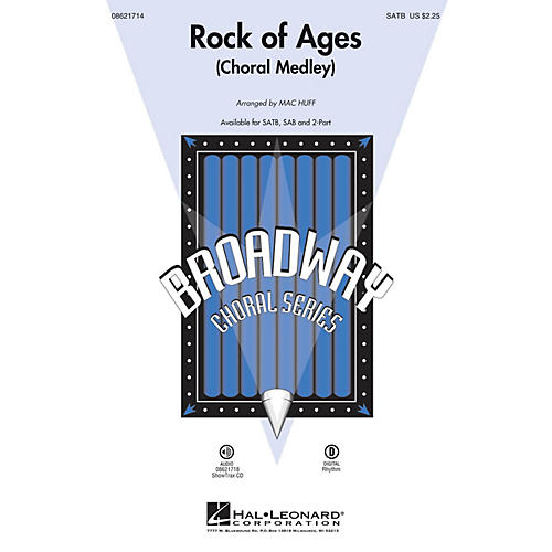 Hal Leonard Rock of Ages (Choral Medley from the Broadway Musical) SATB arranged by Mac Huff thumbnail