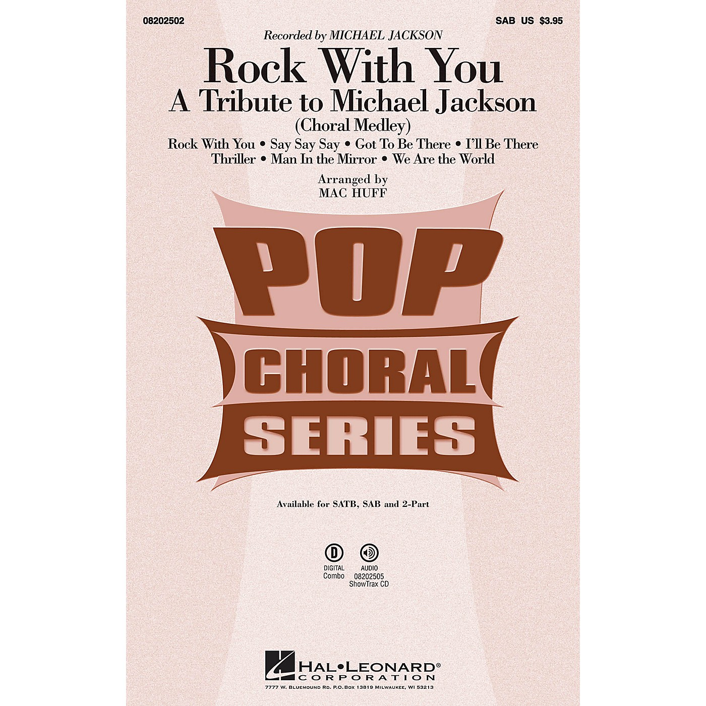 Hal Leonard Rock with You - A Tribute to Michael Jackson (Medley) SAB by Michael Jackson arranged by Mac Huff thumbnail