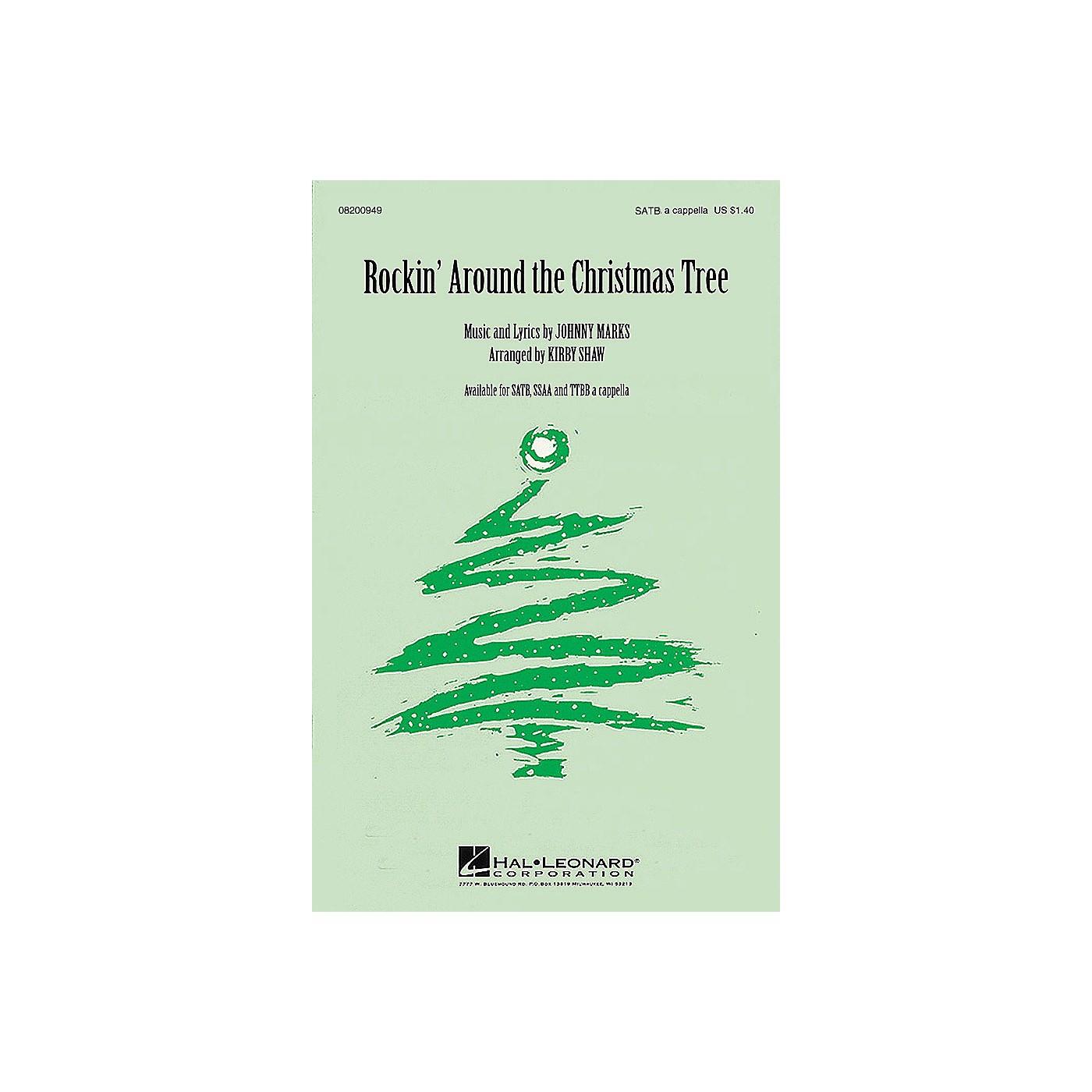 Hal Leonard Rockin' Around the Christmas Tree TTBB A Cappella Arranged by Kirby Shaw thumbnail