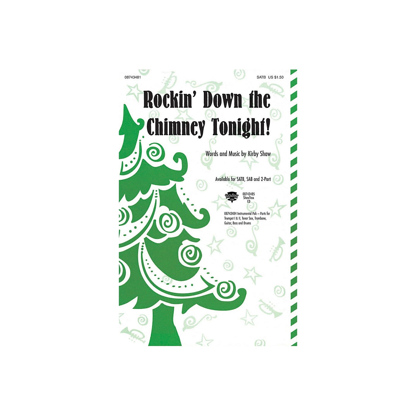 Hal Leonard Rockin' Down the Chimney Tonight! 2-Part Composed by Kirby Shaw thumbnail