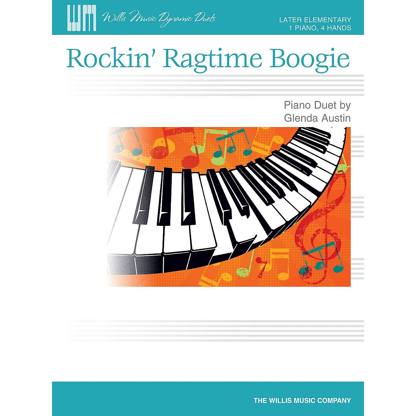 Willis Music Rockin' Ragtime Boogie Willis Series by Glenda Austin (Level Late Elem) thumbnail