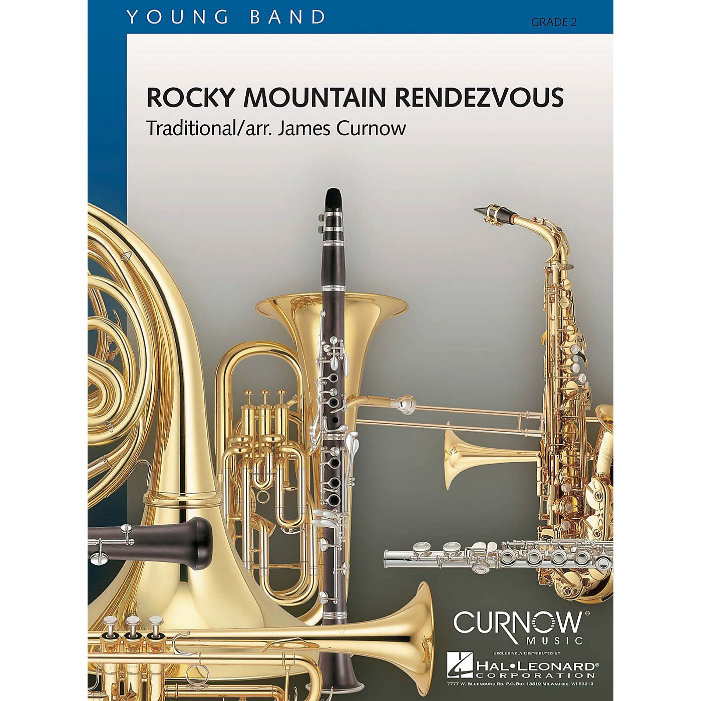 Curnow Music Rocky Mountain Rendezvous (Grade 2 - Score and Parts) Concert Band Level 2 Composed by James Curnow thumbnail