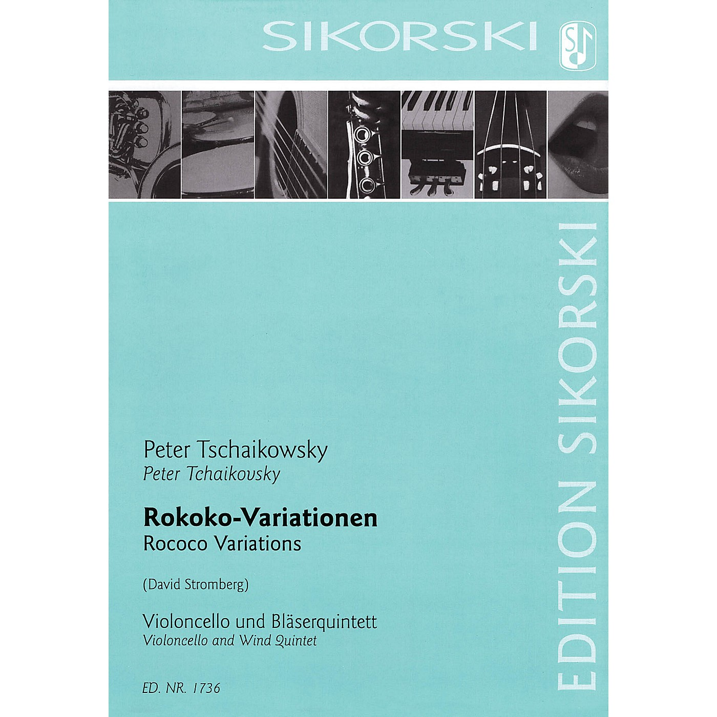 Sikorski Rococo Variations Ensemble Series Composed by Pyotr Il'yich Tchaikovsky Arranged by David Stromberg thumbnail