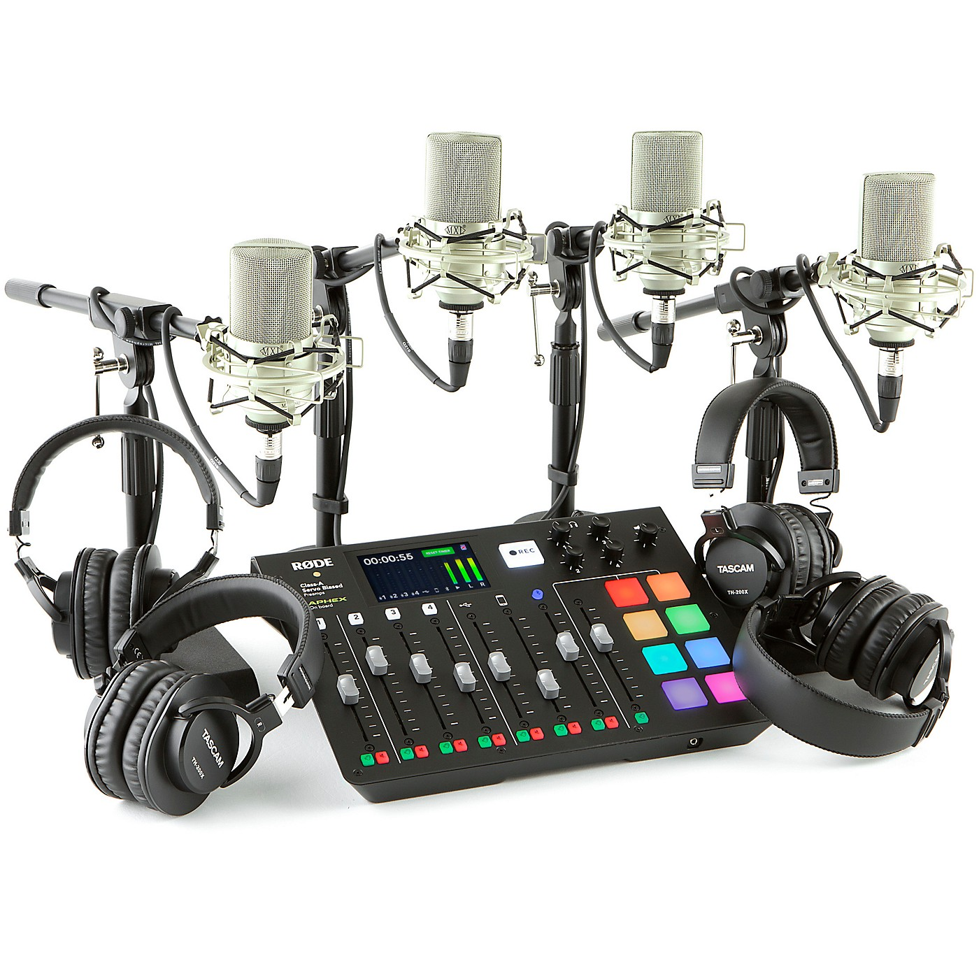 Rode Rodecaster Pro 4-Person Podcasting Bundle With MXL990 & TH200X thumbnail