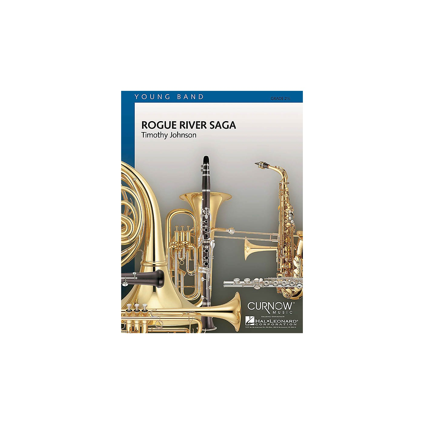 Curnow Music Rogue River Saga (Grade 2.5 - Score Only) Concert Band Level 2.5 Composed by Timothy Johnson thumbnail