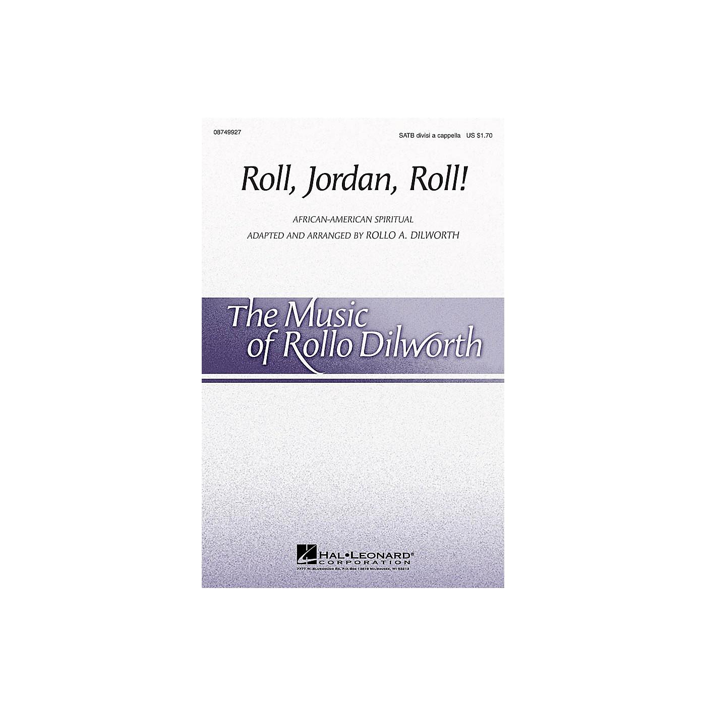 Hal Leonard Roll, Jordan, Roll! SATB DV A Cappella arranged by Rollo Dilworth thumbnail
