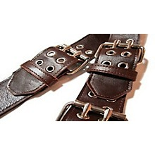 "Jodi Head Roller Buckle Leather 2.5"" Wide Guitar Strap"