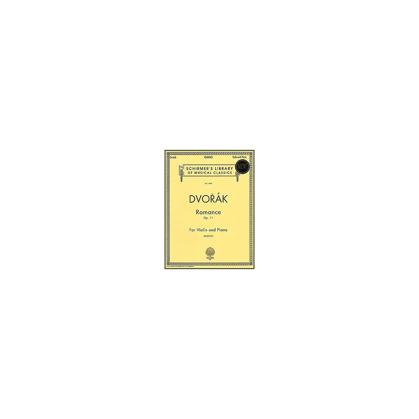 G. Schirmer Romance Op 11 Vn/Pno Violin & Piano By Dvorak thumbnail