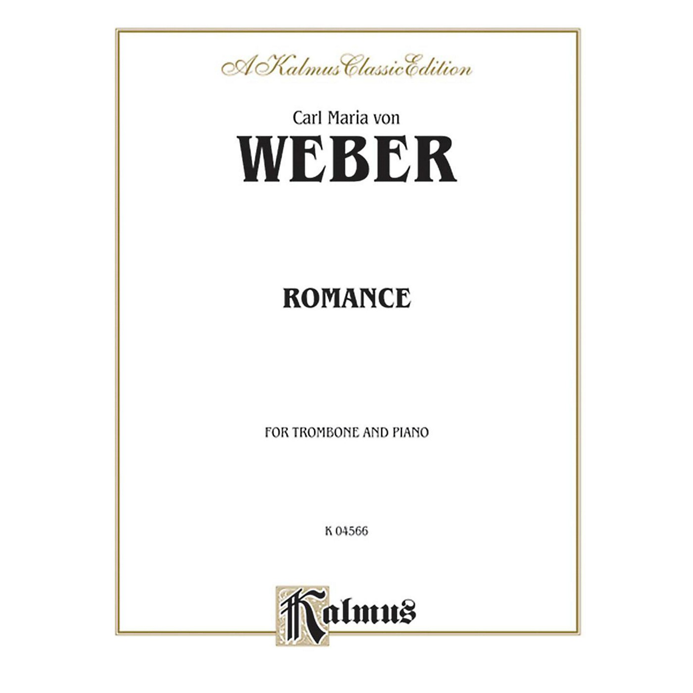 Alfred Romance for Trombone By Carl Maria von Weber Book thumbnail