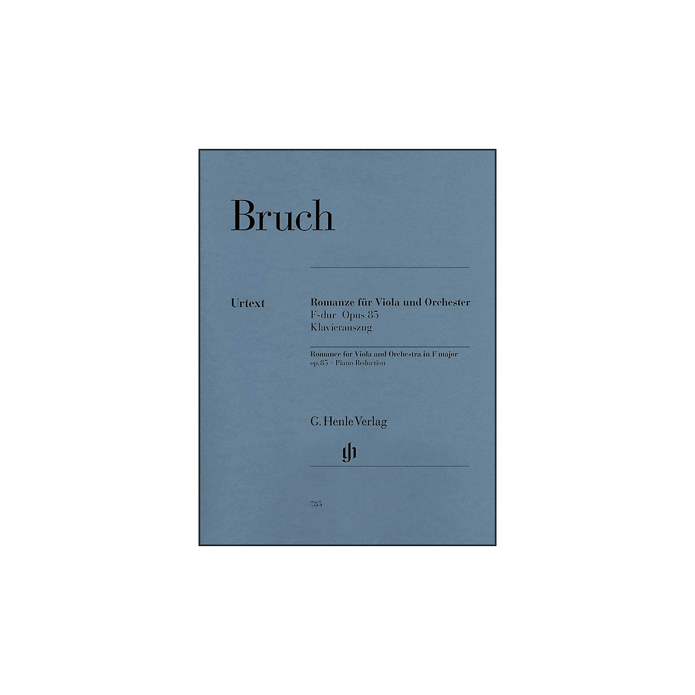 G. Henle Verlag Romance for Viola and Orchestra in F Major Op. 85 By Bruch thumbnail