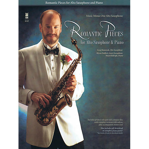 Music Minus One Romantic Pieces for Alto Saxophone & Piano Music Minus One Series Book with CD  by Various thumbnail