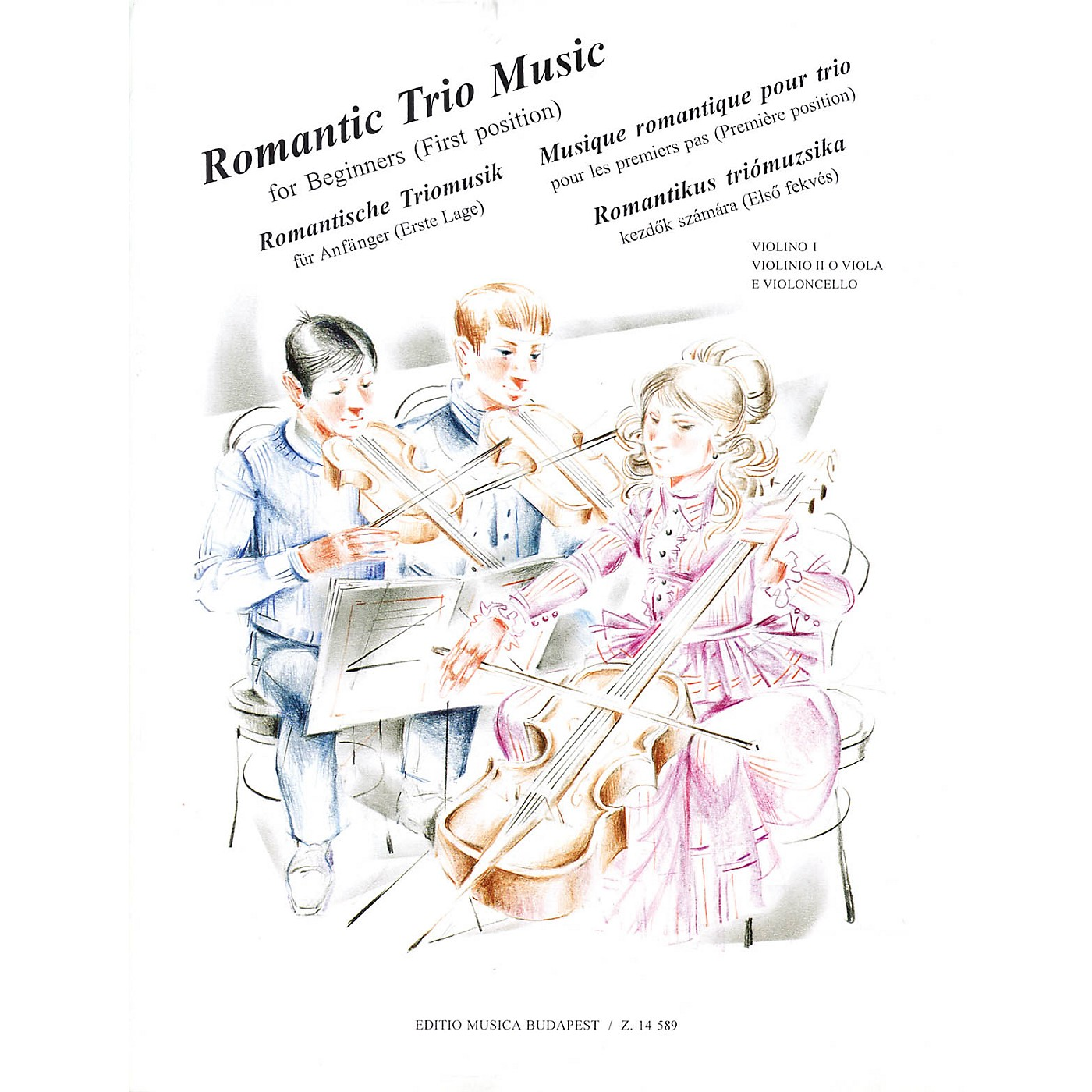 Editio Musica Budapest Romantic Trio Music for Beginners - First Position (Score & Parts) EMB Series Composed by Various thumbnail
