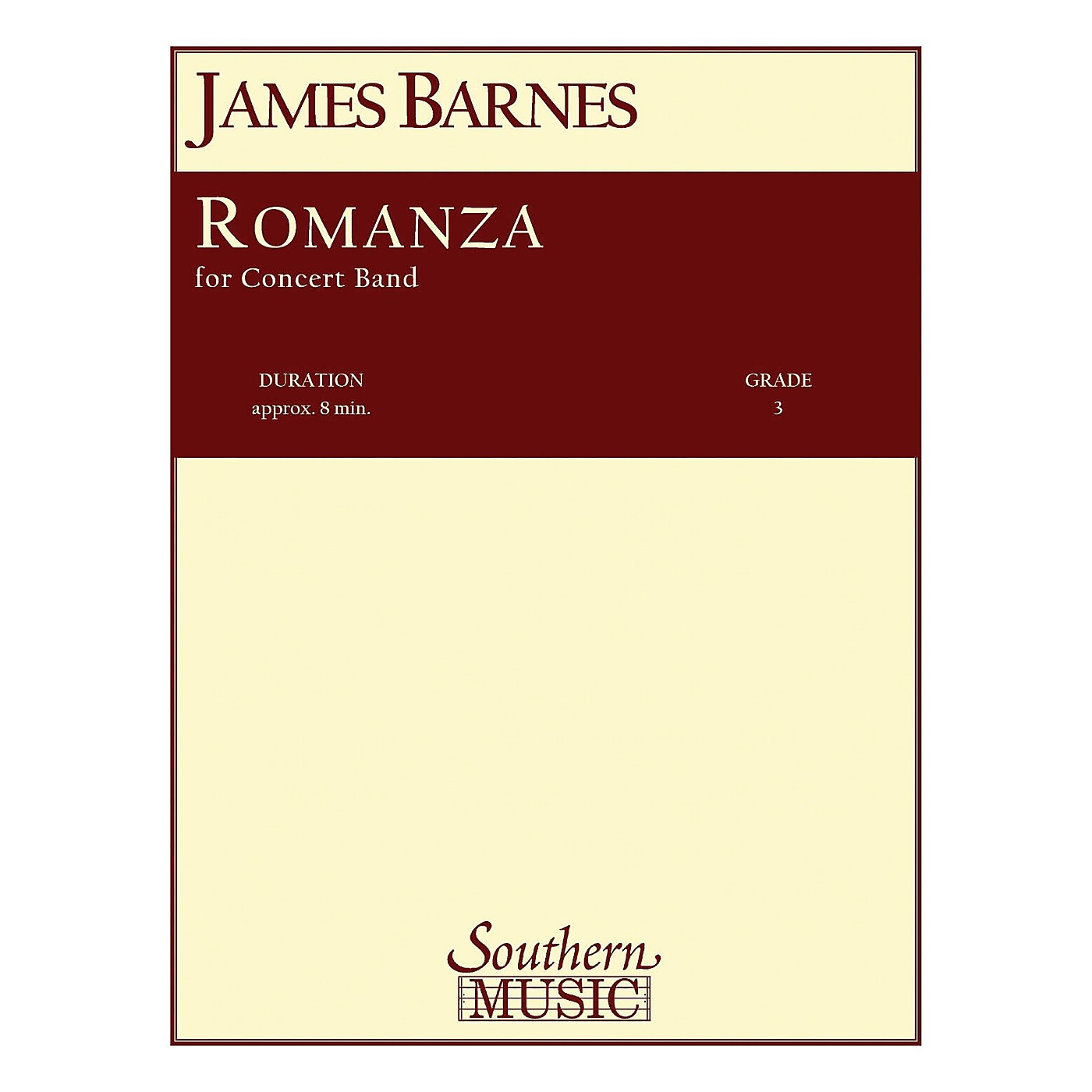 Southern Romanza Concert Band Level 3 Composed by James Barnes thumbnail