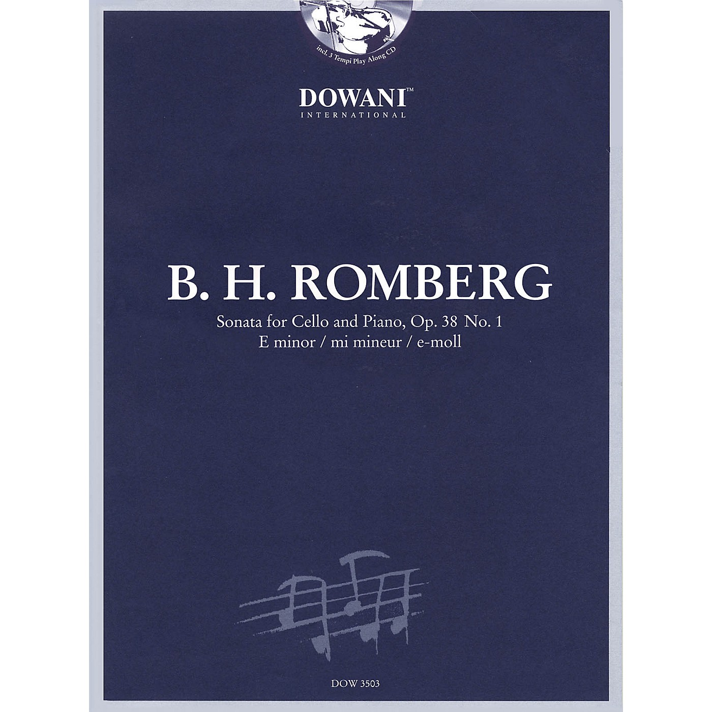 Dowani Editions Romberg: Sonata for Cello and Piano in E Minor, Op. 38 No. 1 Dowani Book/CD Series thumbnail