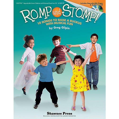 Shawnee Press Romp and Stomp! (10 Songs to Raise a Ruckus with Musical Fun) REPRO COLLECT UNIS BOOK/CD by Greg Gilpin thumbnail