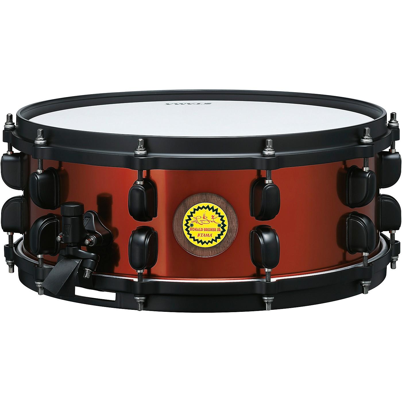 TAMA Ronald Bruner Signature 5.5 x 14 in. Walnut/Steel Hybrid Snare Drum thumbnail