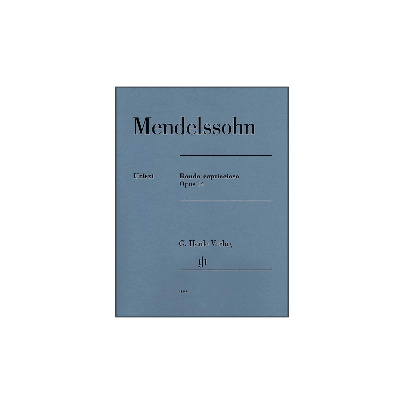 G. Henle Verlag Rondo Capriccioso Op. 14 Piano Solo By Mendelssohn thumbnail
