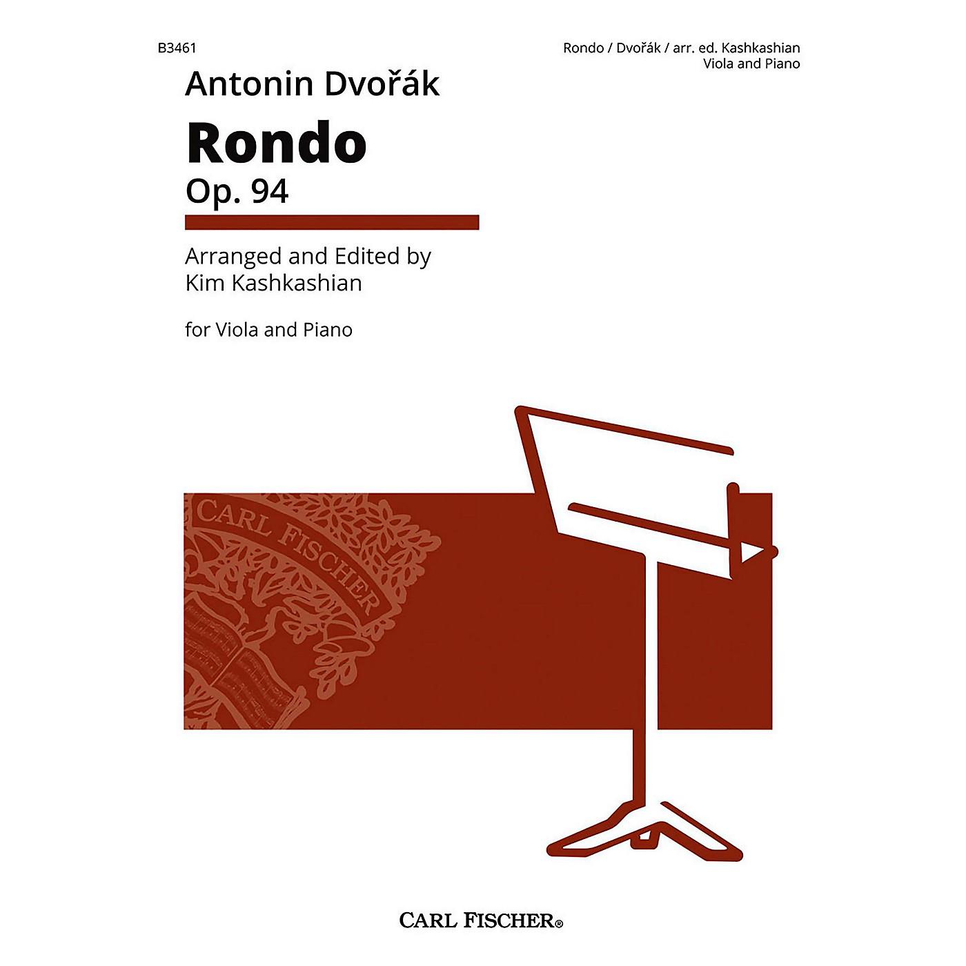 Carl Fischer Rondo Op. 94 Antonin Dvorak for Viola & Piano thumbnail