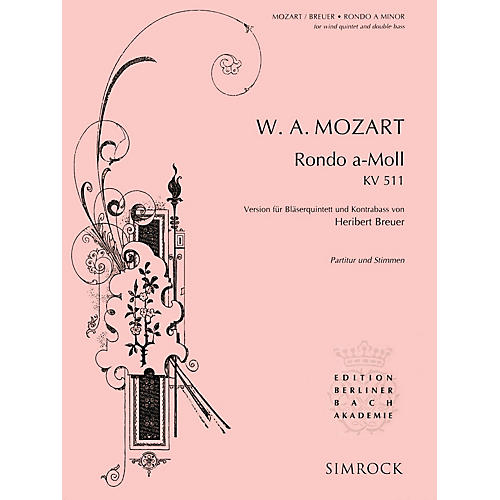 Simrock Rondo in A Minor, K. 511 Series Composed by Wolfgang Amadeus Mozart thumbnail