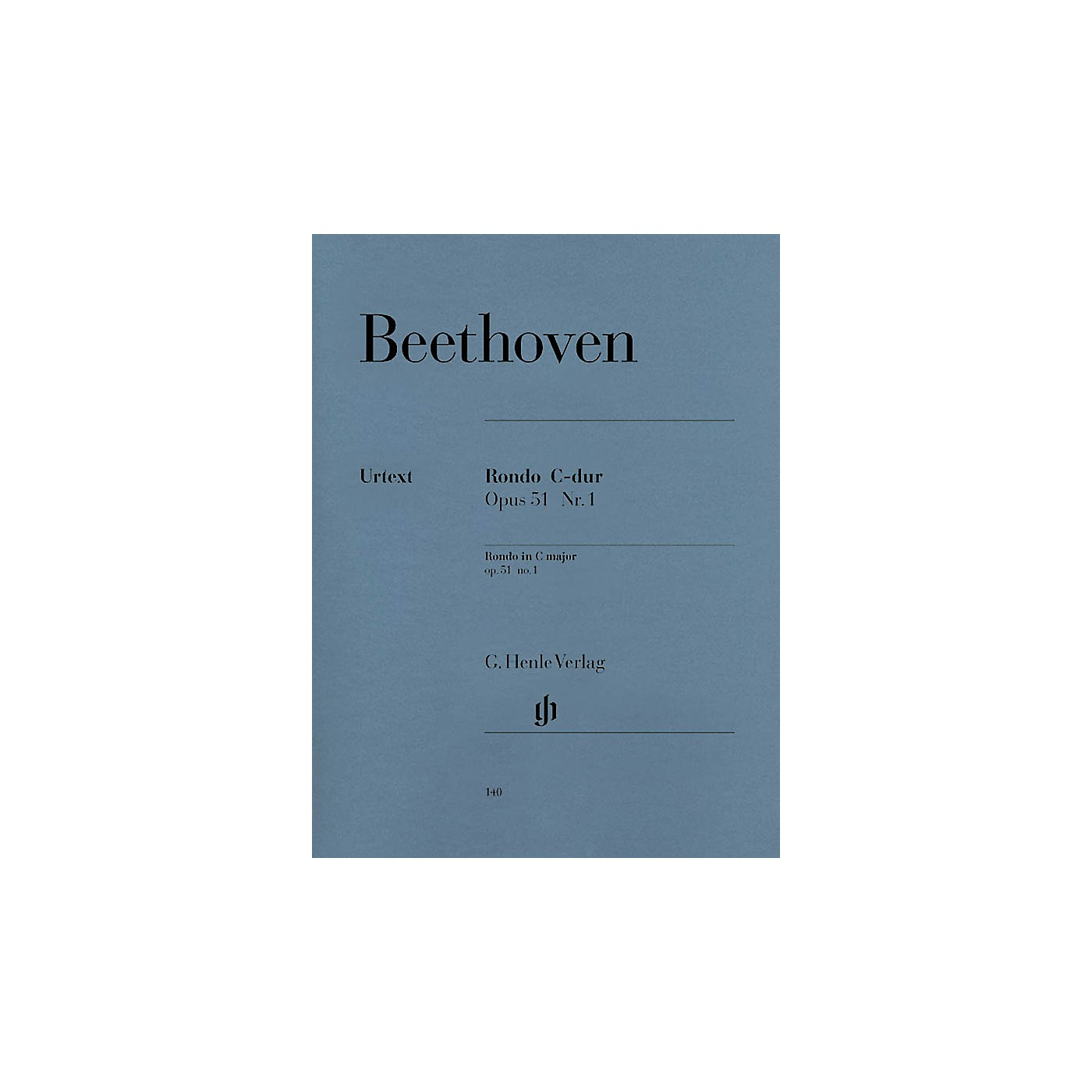 G. Henle Verlag Rondo in C Major Op. 51, No. 1 Henle Music Folios Series Softcover thumbnail