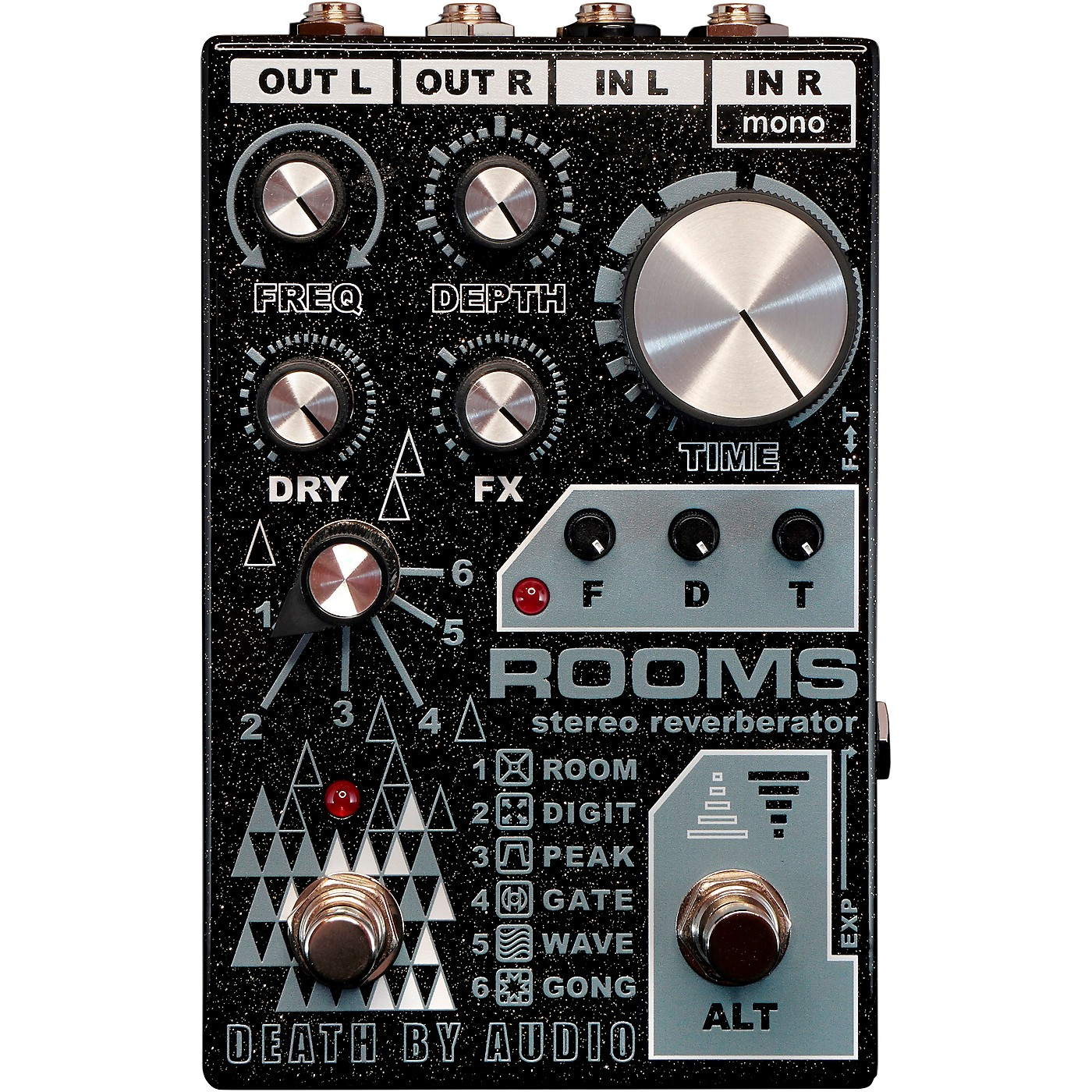 Death By Audio Rooms Stereo Reverb Effects Pedal thumbnail