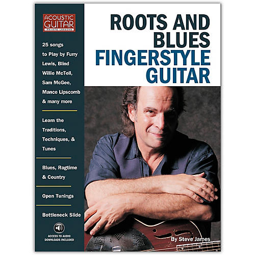 String Letter Publishing Roots and Blues Fingerstyle Guitar (Book/Online Audio) thumbnail