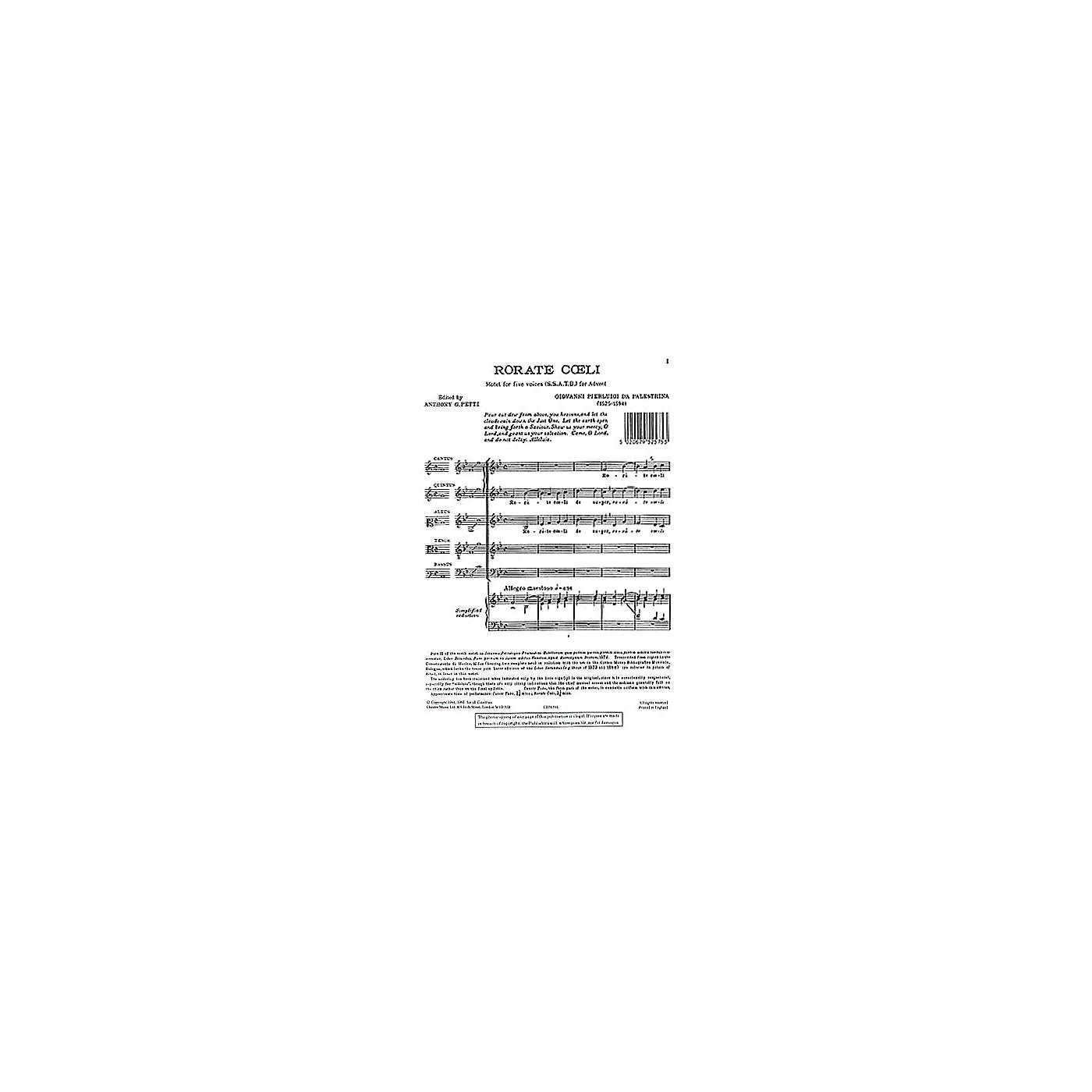 Chester Music Rorate Coeli SSATB Composed by Giovanni de Palestrina thumbnail
