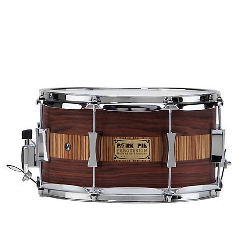 Pork Pie Rosewood Zebra Maple Snare Drum thumbnail
