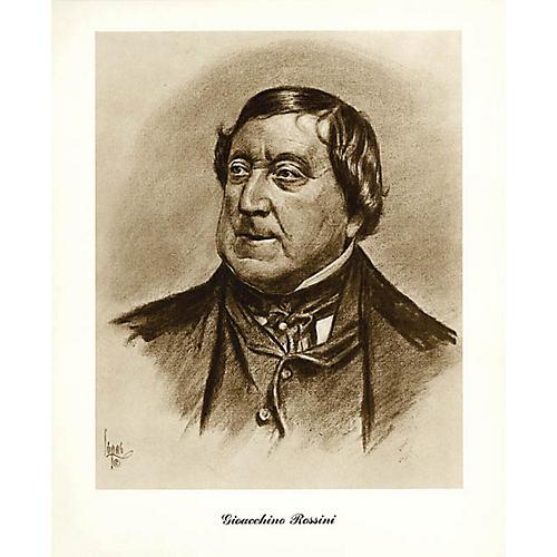 Music Sales Rossini (Lupas Small Portrait Poster) Music Sales America Series thumbnail
