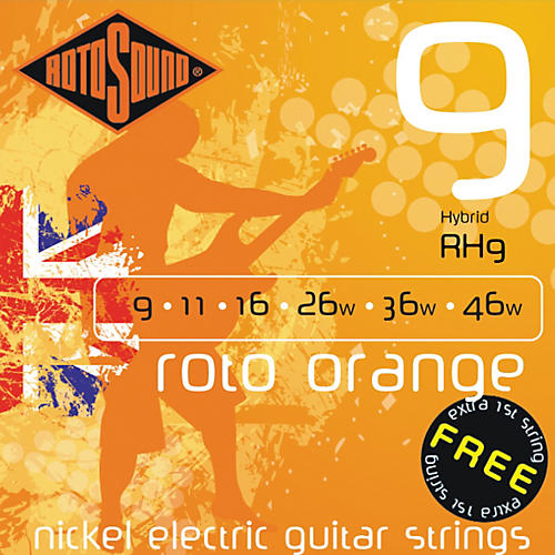 Rotosound Roto Orange Hybrid Electric Guitar Strings thumbnail