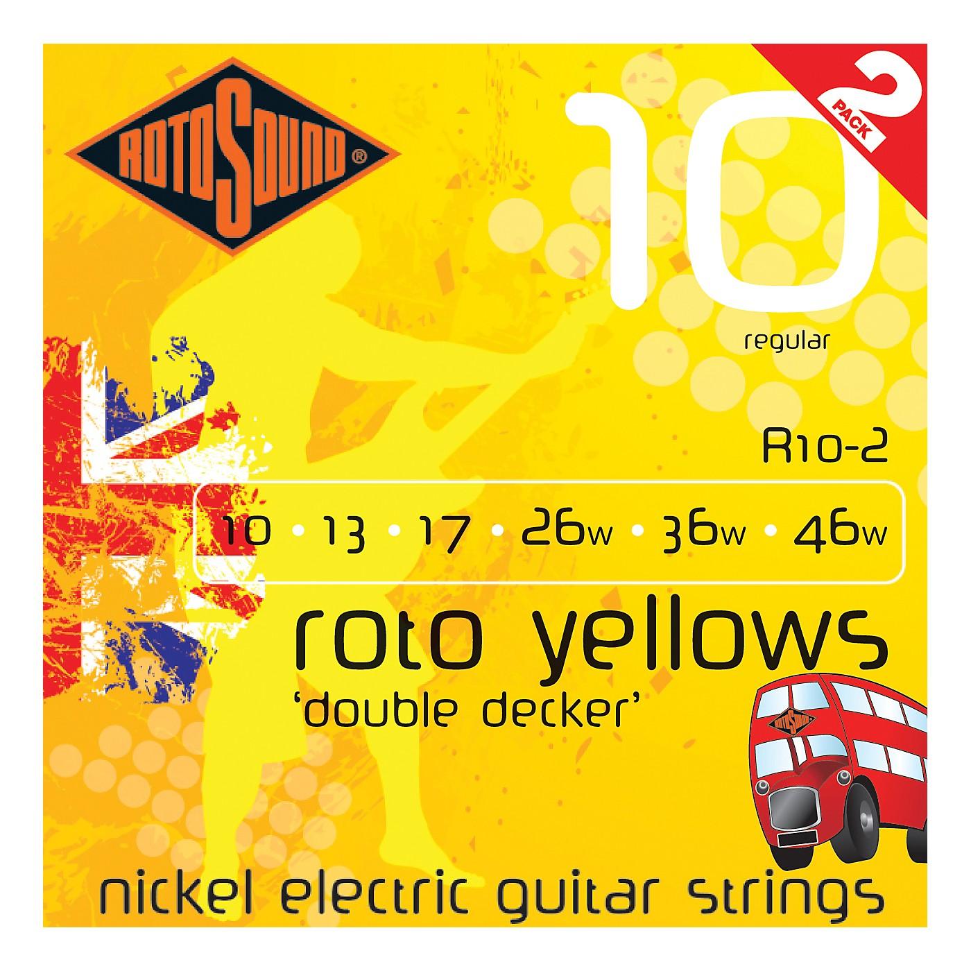 Rotosound Roto Yellows Double Deckers 2-Pack thumbnail