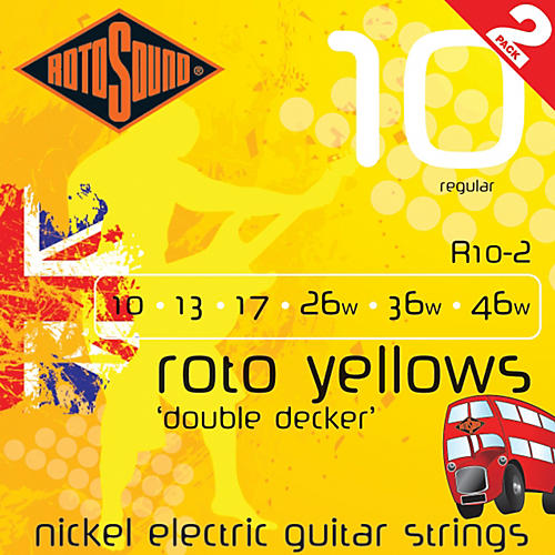 Rotosound Roto Yellows Double Deckers 2-Pack-thumbnail