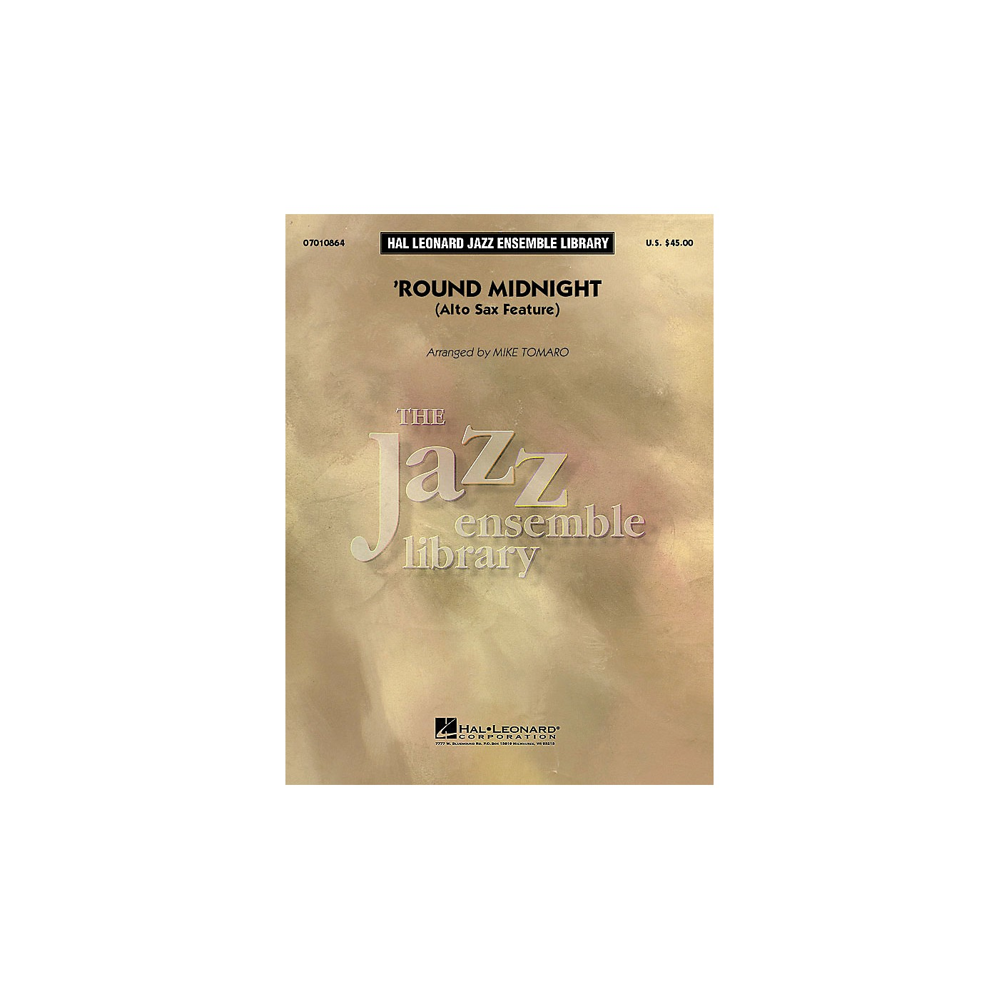 Hal Leonard Round Midnight (Alto Sax Feature) Jazz Band Level 4 Arranged by Mike Tomaro thumbnail