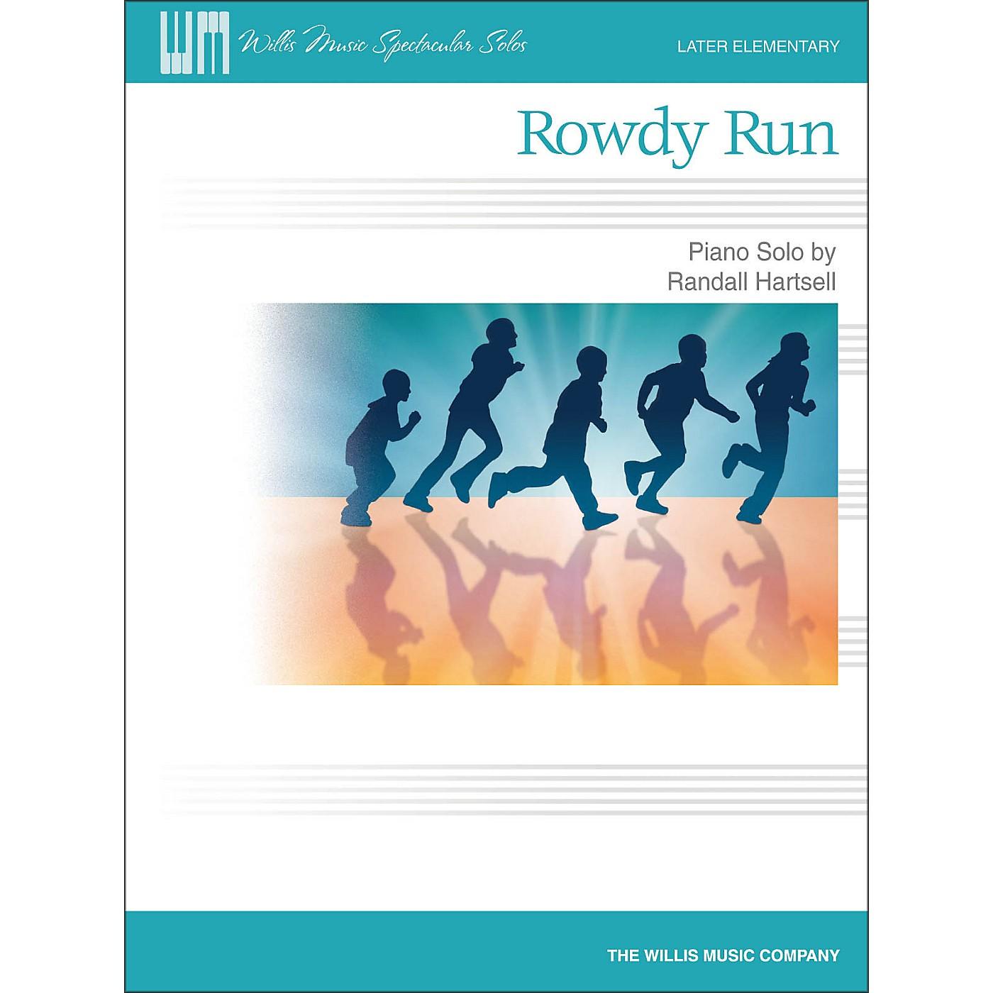 Willis Music Rowdy Run - Later Elementary Piano Solo Sheet thumbnail