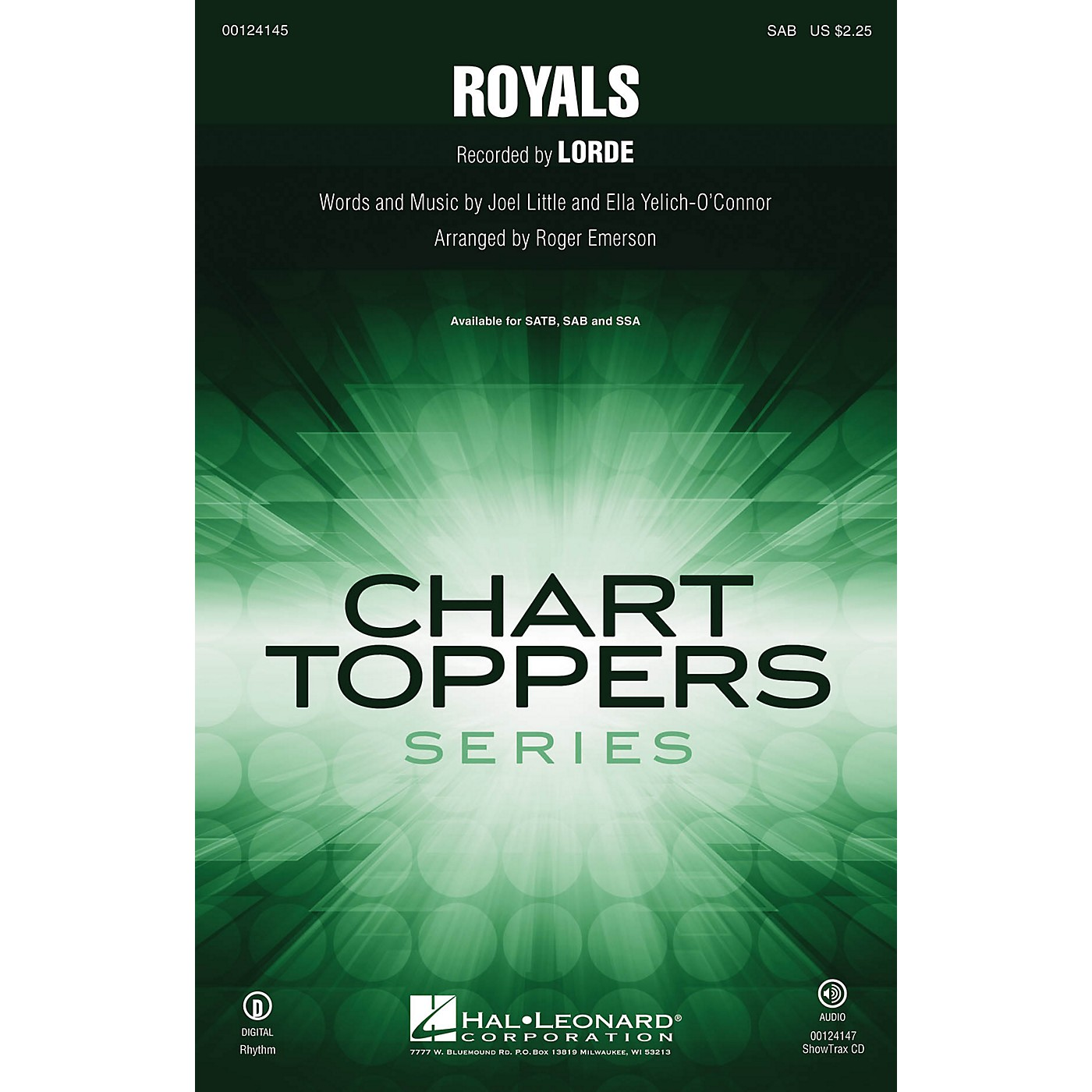 Hal Leonard Royals SAB by Lorde arranged by Roger Emerson thumbnail