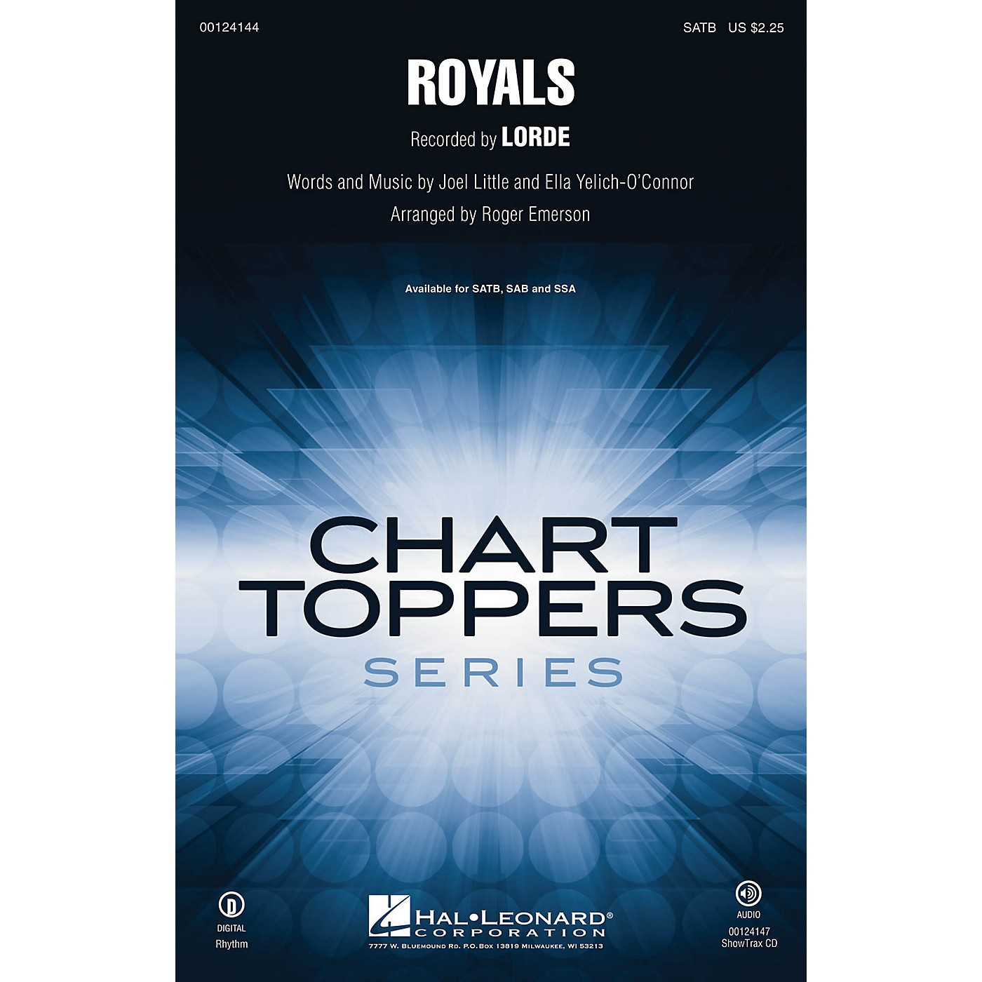 Hal Leonard Royals SATB by Lorde arranged by Roger Emerson thumbnail