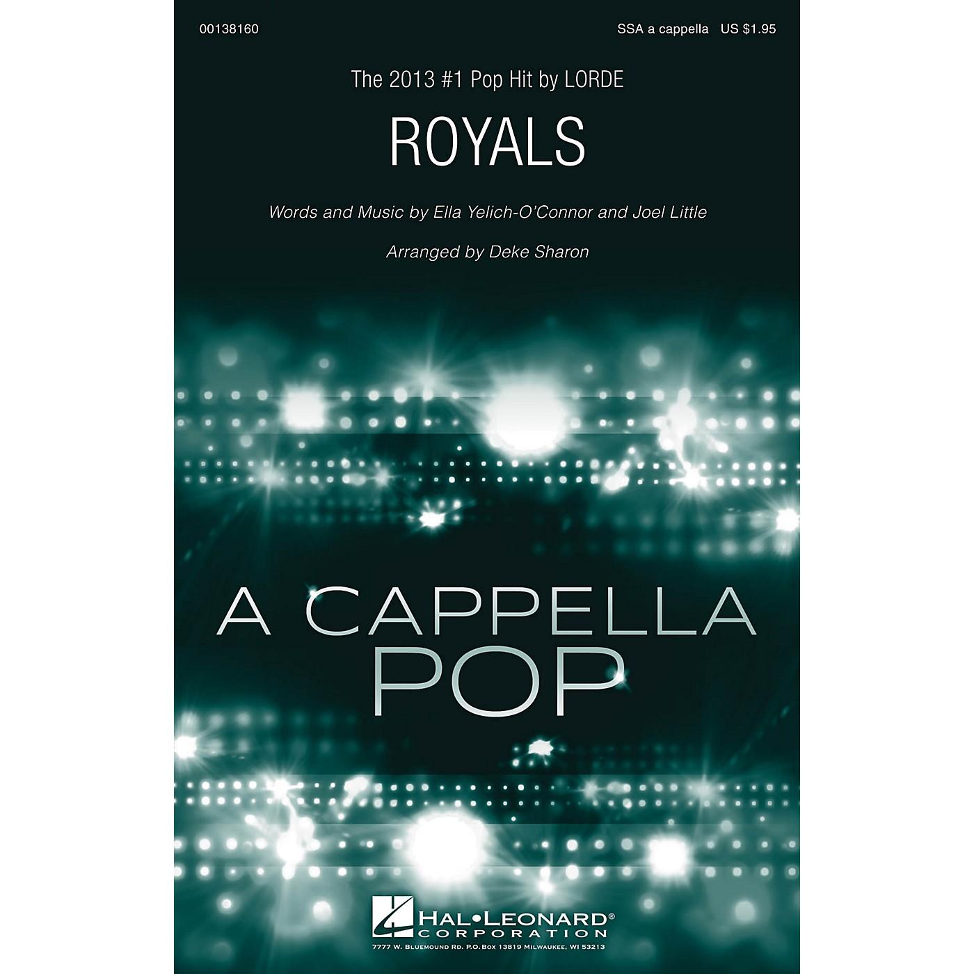 Hal Leonard Royals SSA A Cappella by Lorde arranged by Deke Sharon thumbnail