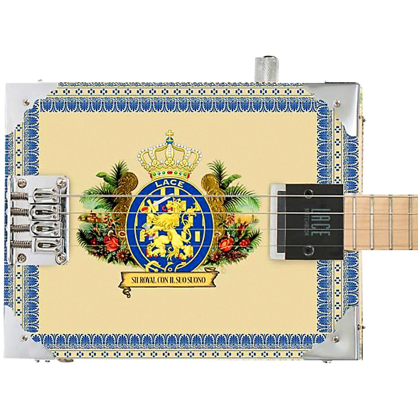 Lace Royalty Acoustic-Electric Cigar Box Guitar thumbnail