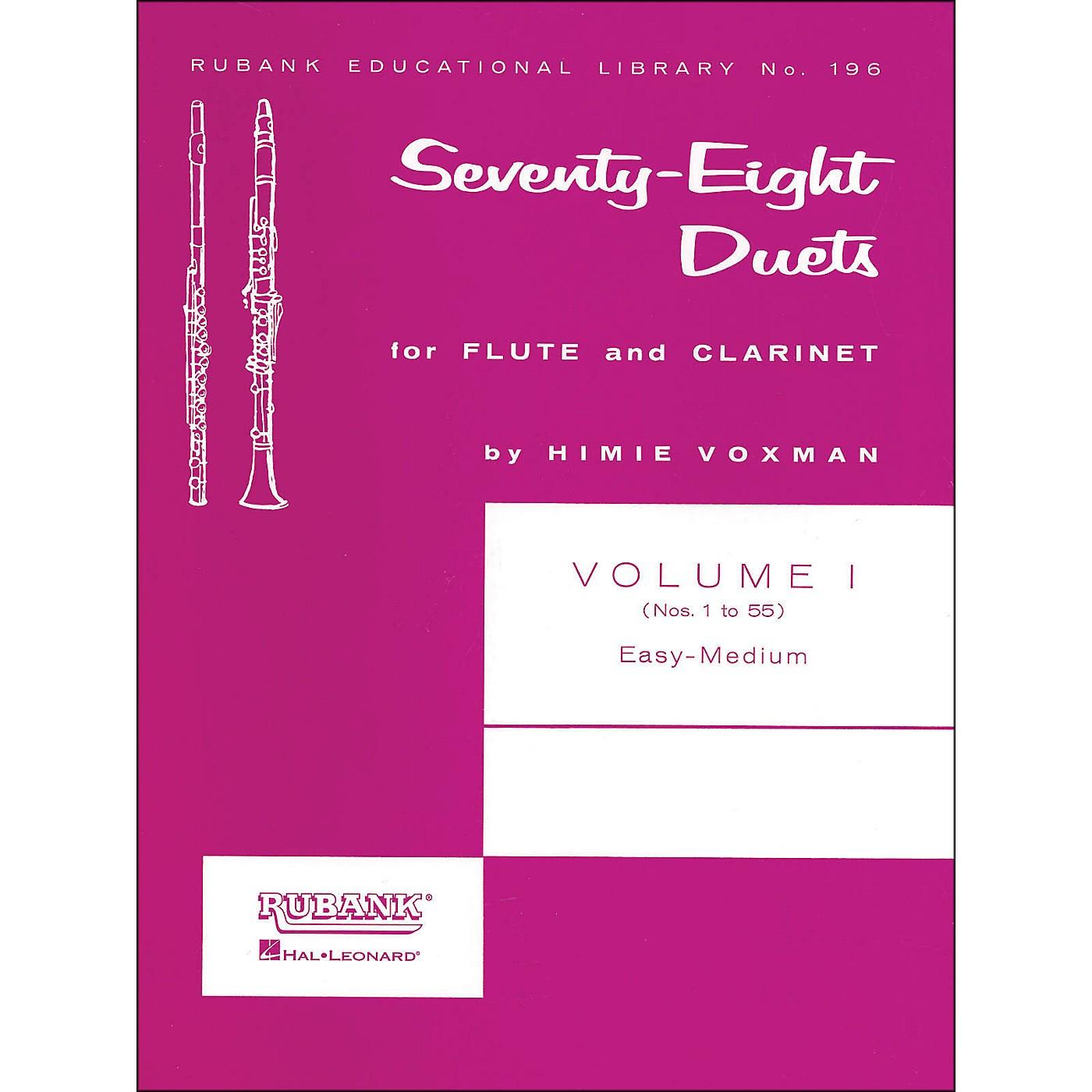 Hal Leonard Rubank 78 Duets for Flute And Clarinet Vol 1 Easy/Medium thumbnail
