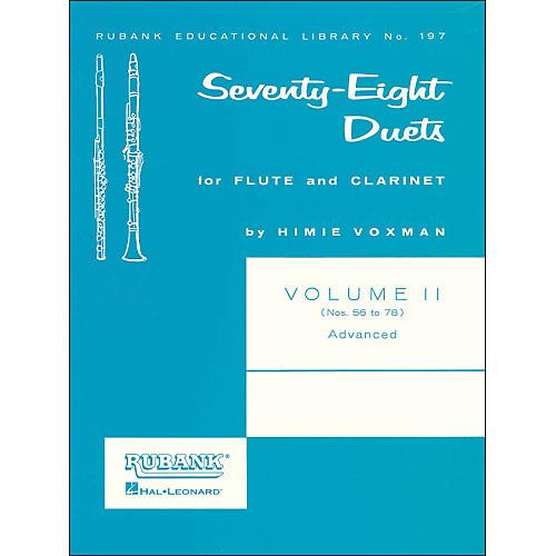 Hal Leonard Rubank 78 Duets for Flute And Clarinet Vol 2 Advanced thumbnail