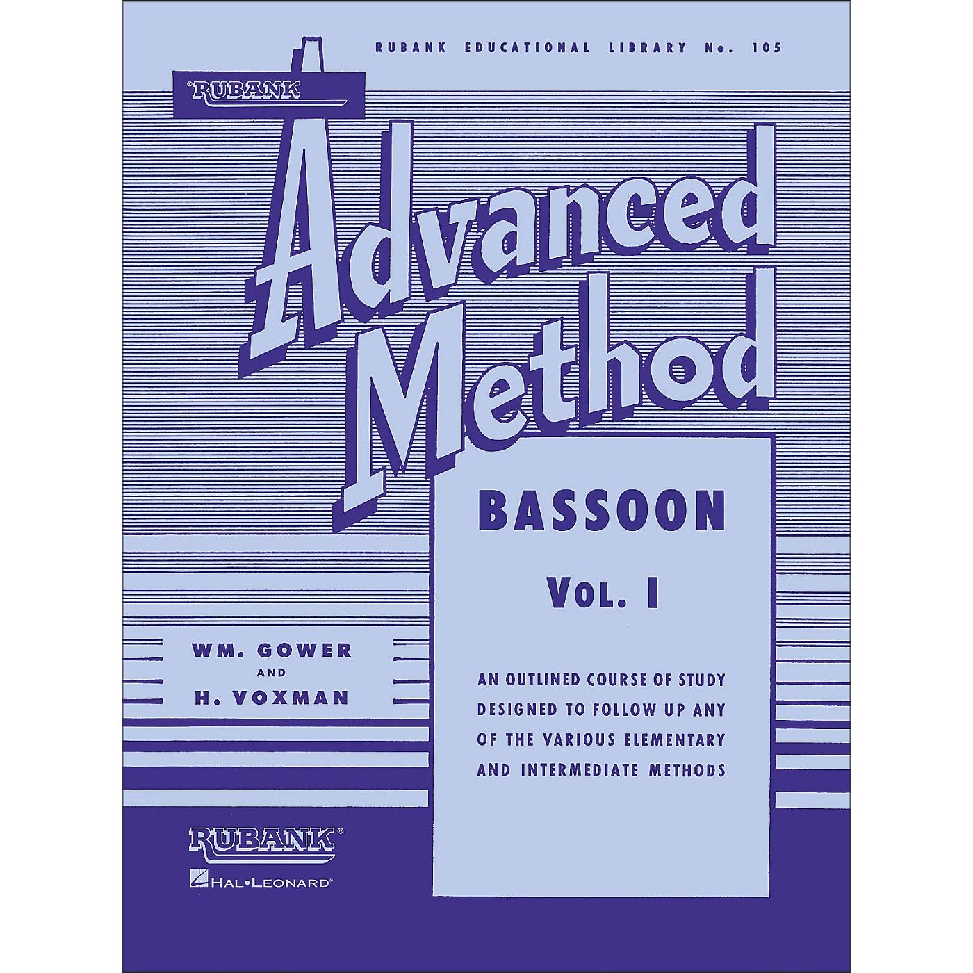 Hal Leonard Rubank Advanced Method for Bassoon Volume 1 thumbnail