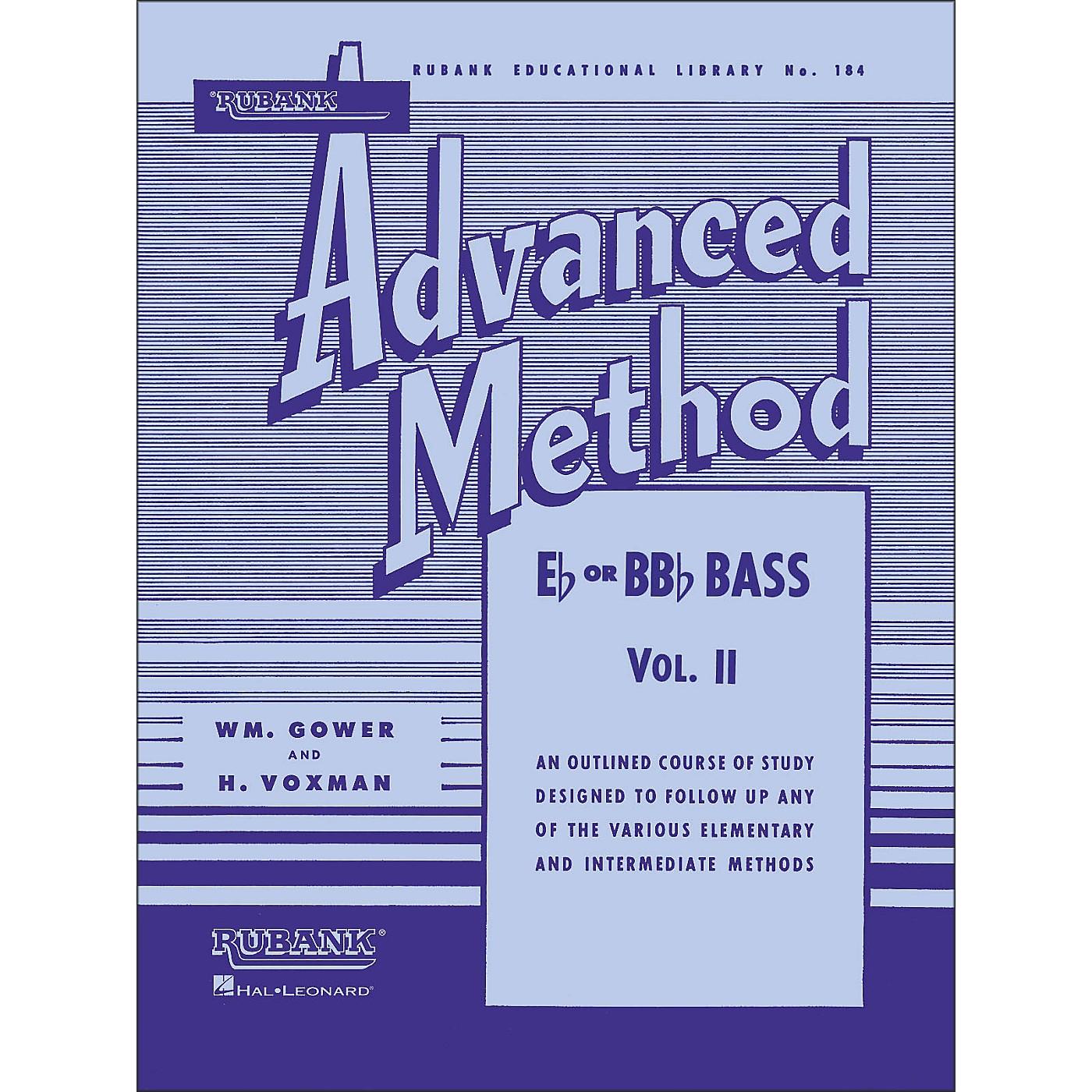 Hal Leonard Rubank Advanced Method for E Flat Or BB-Flat Bass Volume 2 thumbnail