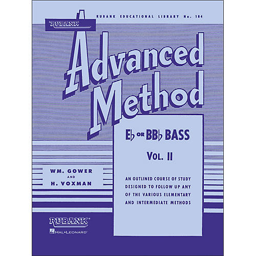 Hal Leonard Rubank Advanced Method for E Flat Or BB-Flat Bass Volume 2 thumbnail