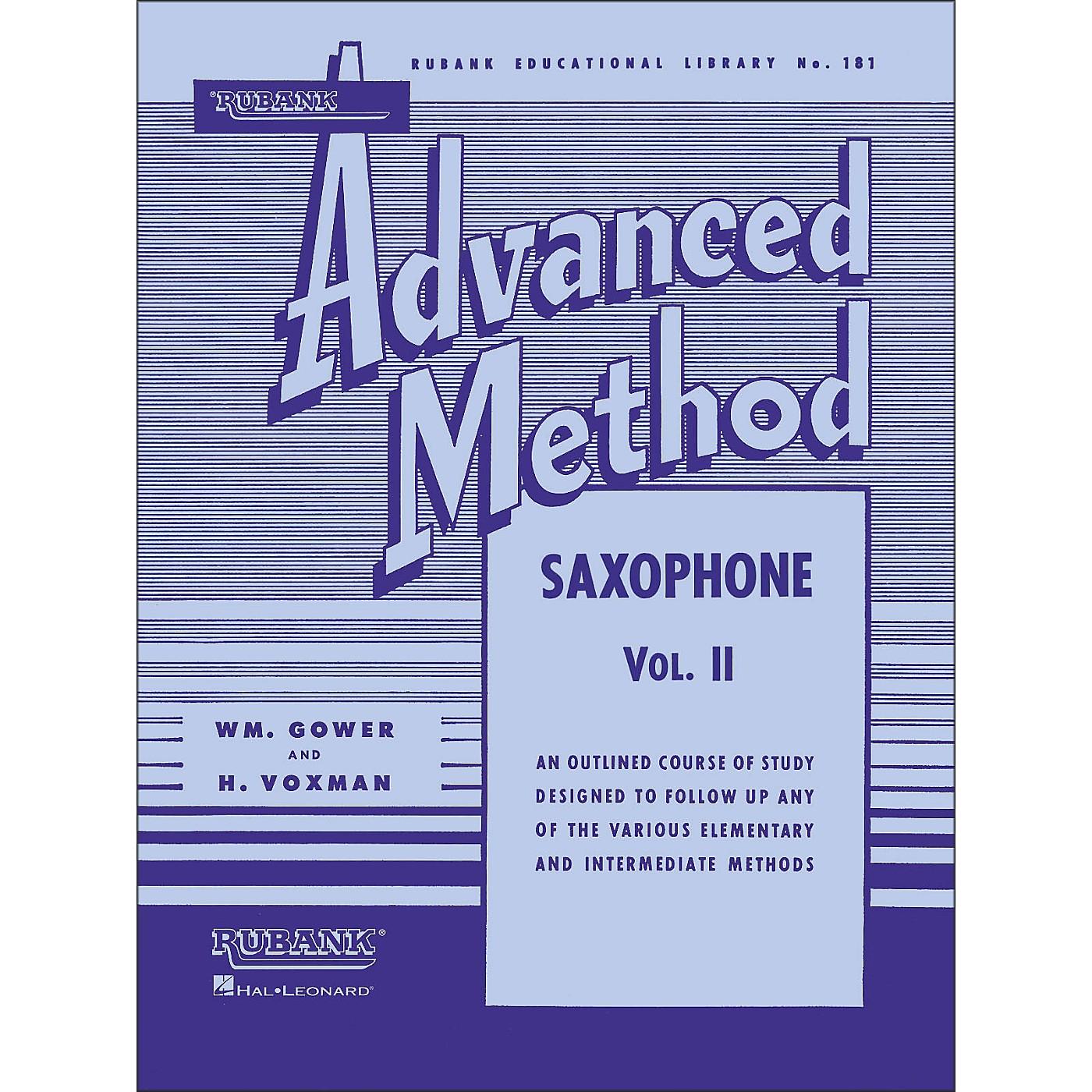 Hal Leonard Rubank Advanced Method for Saxophone Volume 2 thumbnail