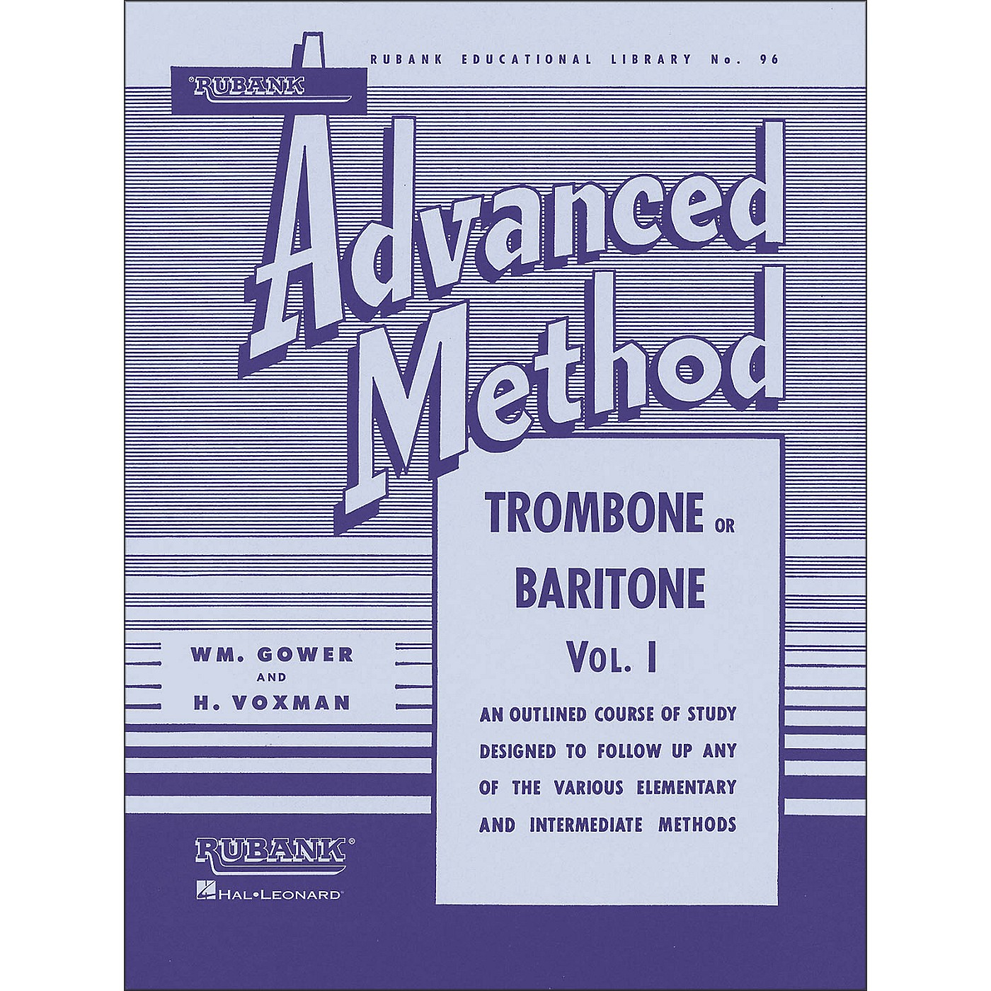 Hal Leonard Rubank Advanced Method for Trombone Or Baritone Volume 1 thumbnail