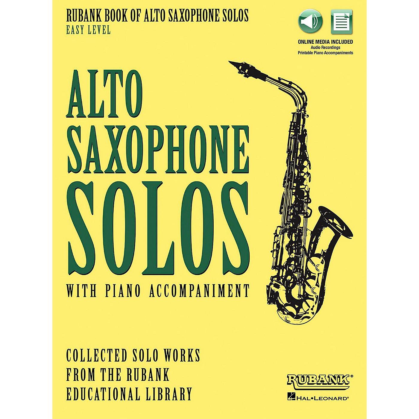 Hal Leonard Rubank Book of Alto Sax Solos - Easy Level Book/Audio Online thumbnail