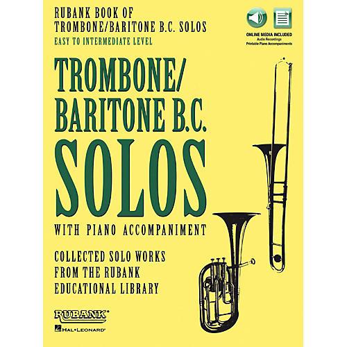 Hal Leonard Rubank Book of Trombone/Baritone B.C. Solos Easy - Intermediate Book/Audio Online thumbnail