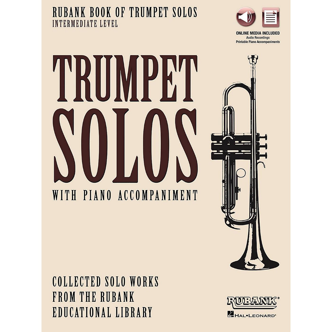 Hal Leonard Rubank Book of Trumpet Solos - Intermediate Level Book/Audio Online thumbnail