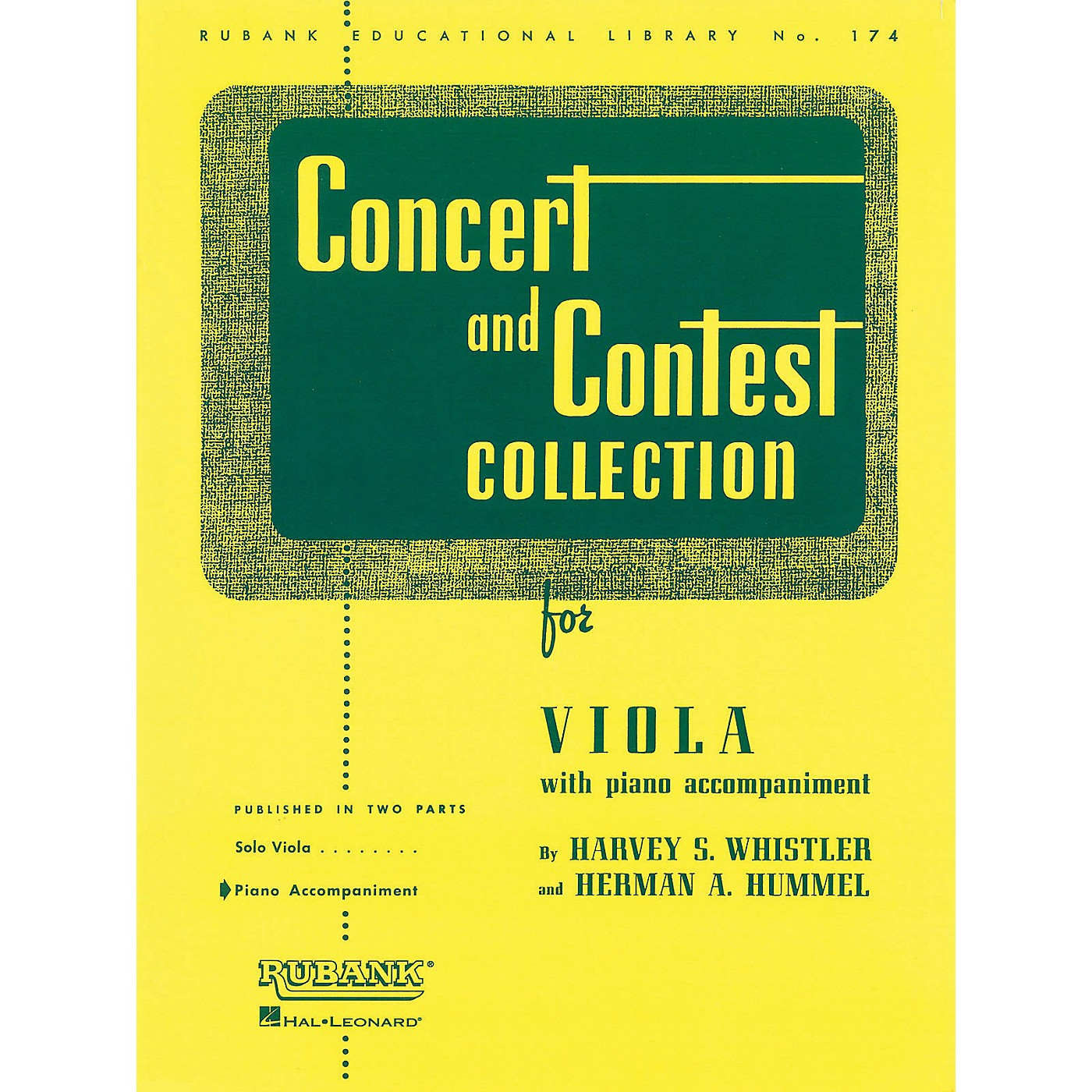 Hal Leonard Rubank Concert And Contest Collection - Viola Piano Accompaniment Only thumbnail